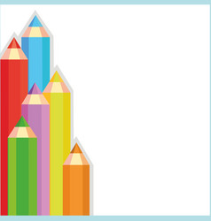Colored pencils frame vector