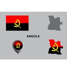 Map of Angola and symbol vector image
