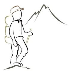Mountaineering symbol vector image vector image