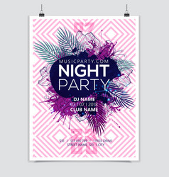 night summer party flyer vector image