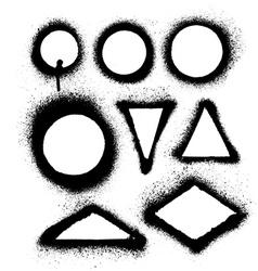 aerosol spray paint frames vector image