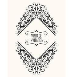 Floral Vintage Corner Frame vector image