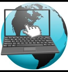 hand cursor clicks vector image