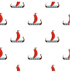 medieval boat pattern flat vector image vector image
