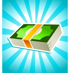 stack money vector image
