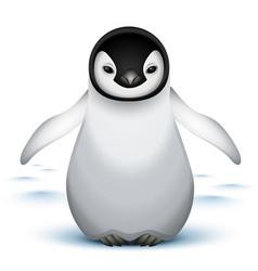 baby emperor penguin vector image vector image
