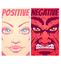 good and evil vector image vector image
