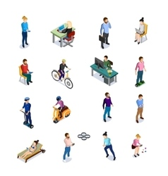 Isometric People Icons Set vector image