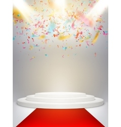 Stage with scenic lights EPS 10 vector image vector image