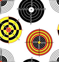 targets for practical pistol shooting seamless wal vector image