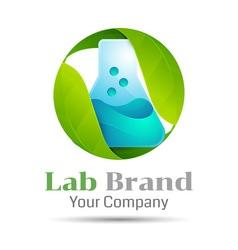 Eco Green Lab Volume Logo Colorful 3d Design vector image vector image