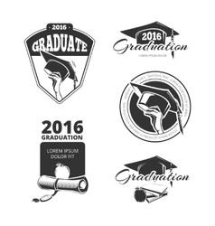 Graduating class badges emblems T-shirt vector image vector image