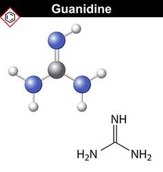 Guanidine molecule vector image vector image