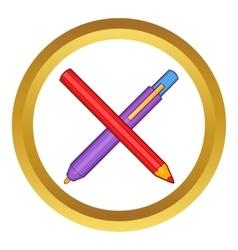 Pencil and pen icon vector image