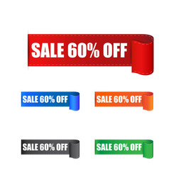 sale 60 off sticker label on white background vector image