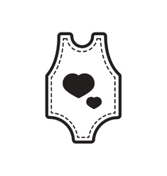 Stylish black and white icon baby clothes vector