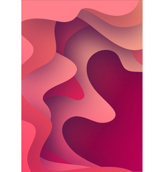 3d paper art bright colorful vector image
