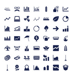 49 growth icons vector