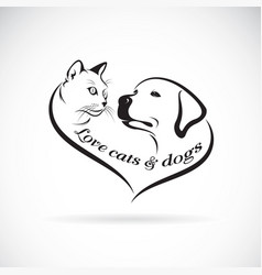 a dog headlabrador retriever and cat head design vector image