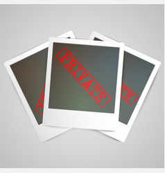 a photogrph with a warning sign vector image