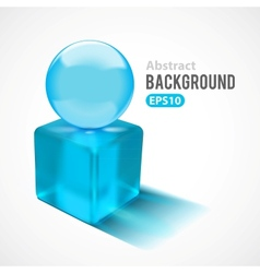 Abstract background with transparent glass shapes vector image