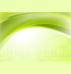 Abstract green wavy geometric technical background vector