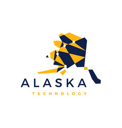 Alaska technology connection geometric low poly vector