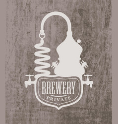 Banner with printed logo private brewery vector