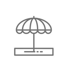 beach umbrella vacation equipment line icon vector image
