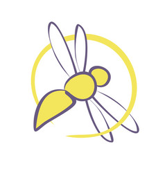 bee sign vector image