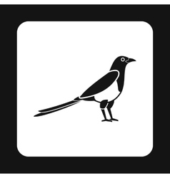 Bird icon simple style vector