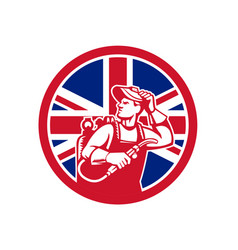 British lit operator union jack flag icon vector