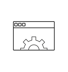 browser settings icon vector image