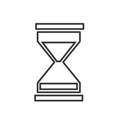 Business sand clock icon glass timer symbol vector