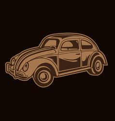 car vitage icon vector image