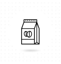 coffee paper bag icon vector image