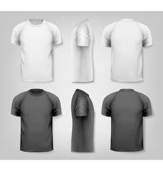 Colorful male t-shirts Design template vector image