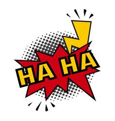Comic lettering ha-ha on white background vector