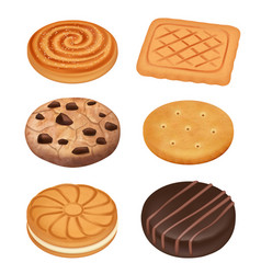 cookies delicious food dessert sweets creamy vector image