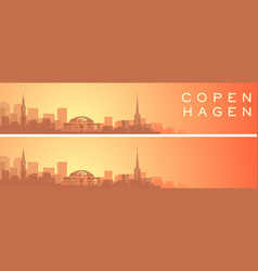 copenhagen beautiful skyline scenery banner vector image