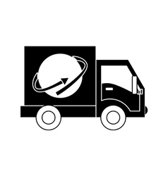 Delivery or cargo truck icon image vector