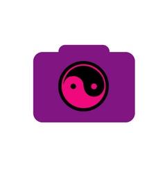 Digital Camera- photography logo with ying yang vector