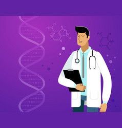Doctor in white coat laboratory vector