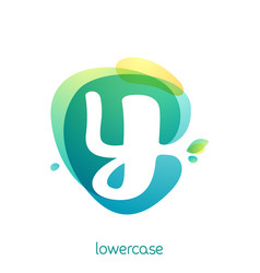 ecology lowercase letter y logo overlapping vector image