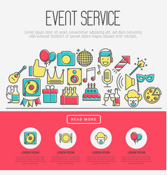 Event agency concept organization of party vector