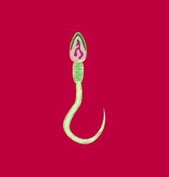 flat shading style icon spermatozoon vector image