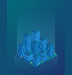 future city flat isometric vector image