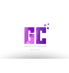 Gc g c pink alphabet letter logo combination with vector