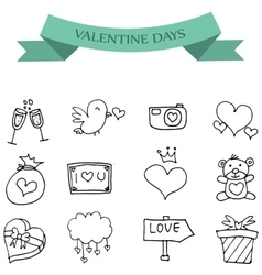 Hand draw icon of valentine day vector image
