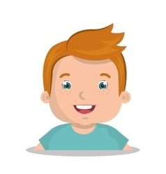 happy boy design vector image